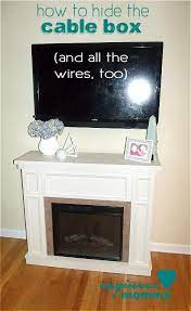 cable box hide cable box wall mounted tv