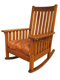 stickley style for wood rocking chair