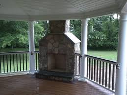 covered deck designs outdoor fireplace amazing deck