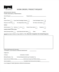 Maintenance Request Form Template Excel Work Request Template Work Order Request For Project Work Order