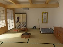 ... White Wall Paint With Ceiling Beams In Great Interior Design Of Traditional  Japanese Bedroom With Cream ...