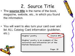 Research Paper Source Research Paper Note Cards English Literature Ppt Download