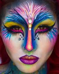 tropical bird pretty diy makeup idea
