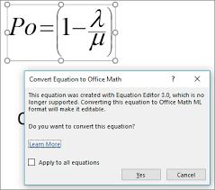 editing equations created using