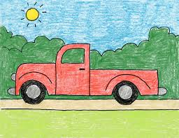 Draw a Simple Truck · Art Projects for Kids