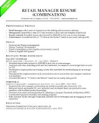 Objective In Resume Samples Retail Sales Objective Resume Examples Objectives For Store Manager