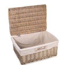woven basket with lid. Grey Matt With Lid Wicker Storage Collection Christmas Gift Hamper Basket Woven