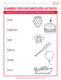 words that start with b for kids