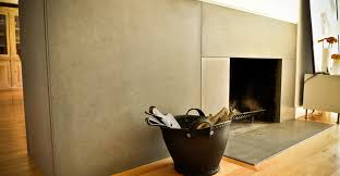 wrap around concrete fireplace surround and hearth by yves st hilaire concrete exchange