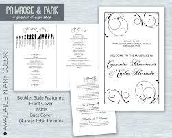 Wedding Programs Template Free Wedding Programme Template Word Diadeveloper Com