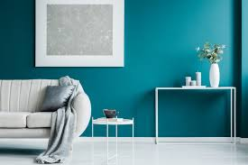 interior painting teal living room