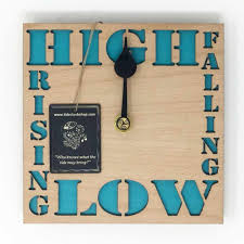 high low tide clock
