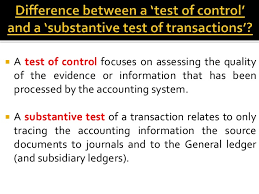 internal controls in auditing 13  a test of control