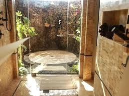 bathroom glamorous outdoor shower design with stacked stone wall ideas for swimming pools areas luxury s modern shower ideas outdoor