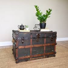 Storage Chest Trunk   Industrial Home Decor   Steamer Trunk Coffee Table    Antique Trunk   Unique Coffee Table   Trunk End Table