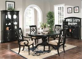black dining room sets. Formal Dining Room 6 Piece Set Oval Table Chairs Black Sets I