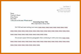 Proper Format For Essay Header