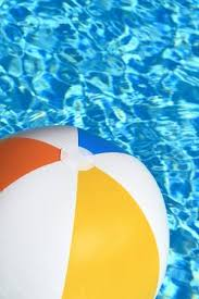 swimming pool beach ball background. Unique Swimming Stock Photo  Summer Background Beach Ball On The Swimming Pool Inside Swimming Background L