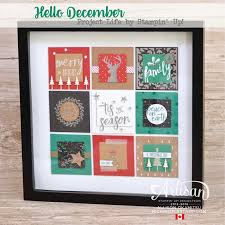 Small Picture nice people STAMP Hello December Home Decor Frame Stampin Up