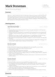 Senior Business Analyst Resume Samples Templates Visualcv
