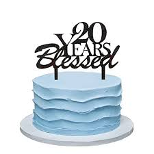 20 Years Blessed Cake Topper 20th Birthday Party Decorations