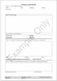 Internal Audit Report Sample Download Printable Pdf