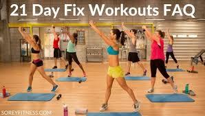 21 Day Fix Workouts Faq Printable Schedule Bonus Workouts