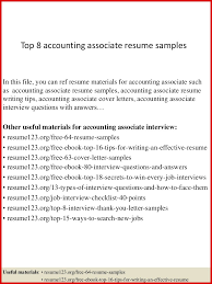 Unique Accounting Associate Resume Mailing Format