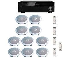 distributed home audio whole house sound system ceiling speakers and wall volume controls for 5 house sound system e20