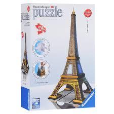 <b>Пазл Ravensburger 3D</b> Эйфелева башня, 216 деталей - купить ...