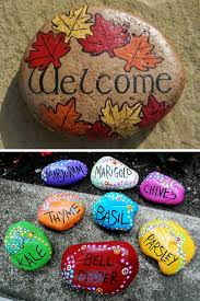 Rock decorating ideas Painting Painted Rock Garden Markers Smart Fun Diy 50 Super Fun And Creative Rock Painting Ideas Smart Fun Diy