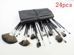 mac 24pcs brush set with black pouch makeup