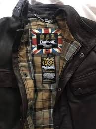 barbour international leather jacket