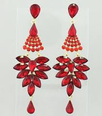 red chandelier crystals pageant earrings long red chandelier earrings color red gold home ideas australia