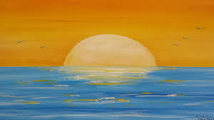 how to painting a sunset seascape in acrylic narrated time lapse you