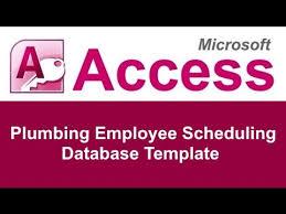 microsoft employee schedule template microsoft access plumbing employee shift scheduling database template