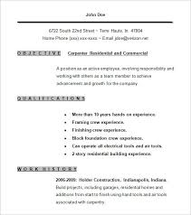 Sample Resume Carpenter Fast Lunchrock Co Resume Examples For Jobs