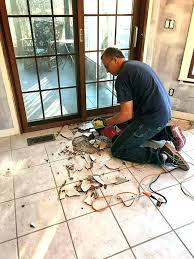 how to remove a tile floor from concrete how to remove tile from concrete removing tile