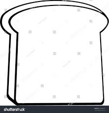 slice of bread outline. Delighful Slice Toast Bread Slice Intended Slice Of Bread Outline W