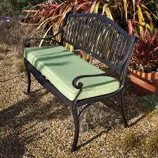 grace garden bench in antique bronze