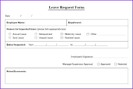 Sample Vacation Request Form Sample Vacation Request Form Vacation Leave Request Form