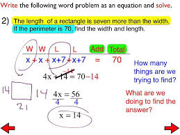 23 word problems involving multi step equations day 3
