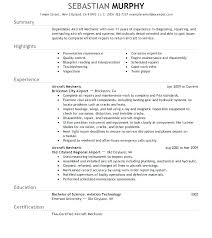 Auto Mechanic Resume Templates Auto Mechanic Resume Sample Mazard Info