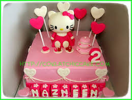 Cake Hello Kitty Nazneen Coklatchic Cake