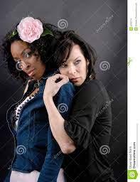 Black Andwhite Girl Lesbian