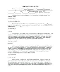 Landscaping Contract Templates Free Contracts Template Printable