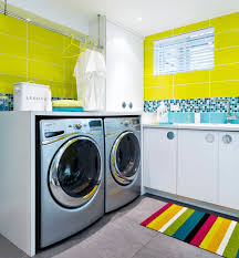 laundry is like so groovy bright modern laundry room