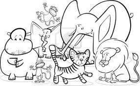 Safari Animals Coloring Pages Tingamedaycom