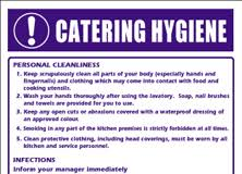 Kitchen Hygiene Rules Kitchen Safety Signs Restaurant Display Signs Aj Stuart