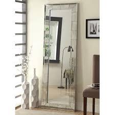 silver floor mirror. Silver Glass Floor Mirror A